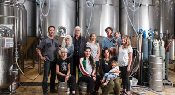 The Cassels family at the brewery in Christchurch