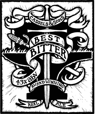 Cassels Best Bitter real ale tap beer badge