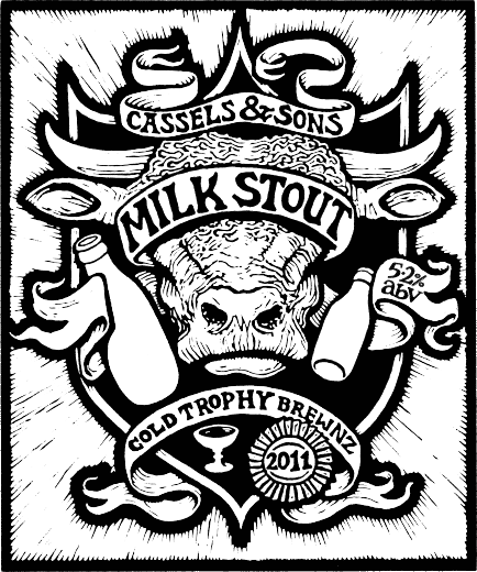 Cassels Milk Stout real ale tap beer badge