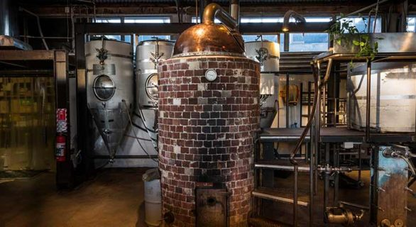 Wood Fired Kettle at Cassels Brewery