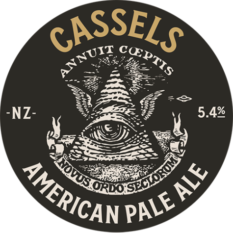 APA American Pale Ale tap badge - Cassels Craft Beer