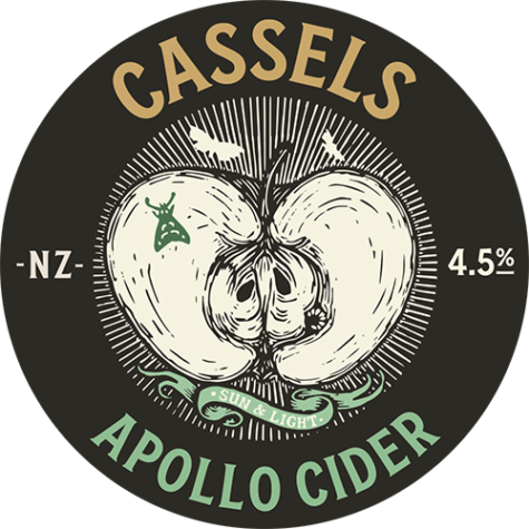 Cassels Apollo Cider tap badge