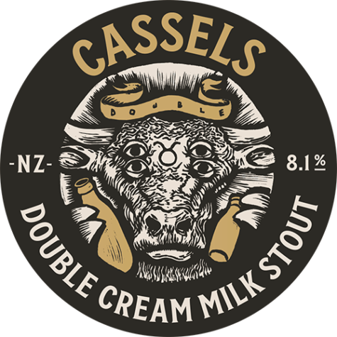 Cassels Double Cream Milk Stout Tap Badge