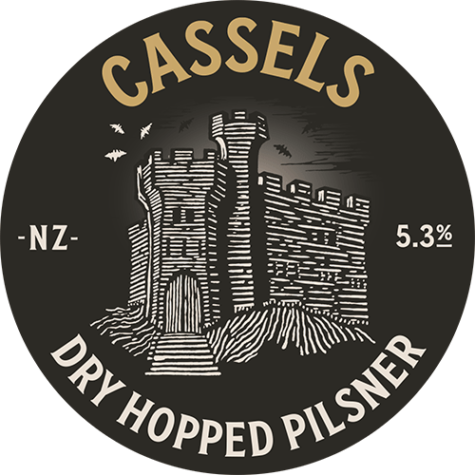 Dry Hopped Pilsner tap badge - Cassels Craft Beer