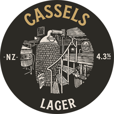 Lager tap badge - Cassels Craft Beer